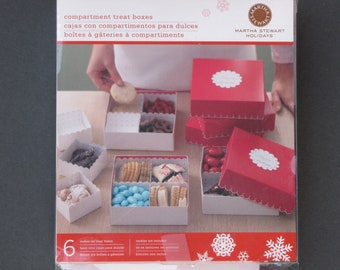 Martha Stewart Holidays holiday compartment treat boxes box Christmas cookies