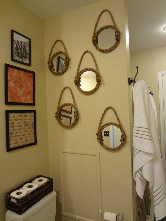 Items similar to Nautical Mirror Wall Decor on Etsy
