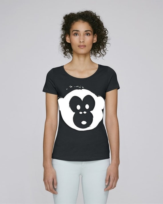 Monki Black Womens Crew Neck T Shirt Size M