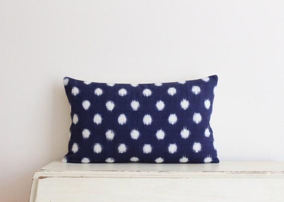 "Limited edition Indigo Ikat pillow cushion cover 12"" x 20"""