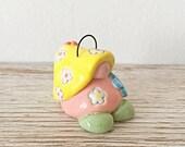Ceramic Hanging Gnome - Blossom - Fairy House - Fairy Garden - Scandanavian Gnome - Nordic Gnome - Pottery Gnome - Garden Fairy Decorations