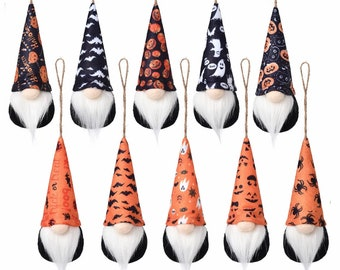 Handmade Gnome Halloween Decorations Handcrafted Halloween Decor Plush Gnomes Ornament Halloween Gift Holiday Decor Halloween Gifts