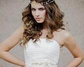 Pearl Wedding Headband - Wedding pearl head band - Pearl Bridal Hir Jewelry - The Agathe Bridal Hairvine style # 107