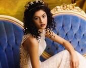 Custom Couture Bridal Star Crown, Wedding Headpiece, Star Tiara, Bridal Star Tiara, Star Headpiece, the Nova Star Crown Headpiece GD1724