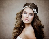 Wedding Hair Wreath - Greek Wedding  Leaf Crown - Flower Crown - Bohemian Wedding Headpiece - The Ariadne Leaves Headdress style #112