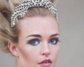 Wedding Tiara, Bridal Tiara, Crystal Tiara, Christmas Wedding, Silver Tiara, Hepburn Silver Crystal Tiara #304