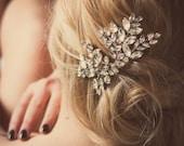 Custom Couture Crystal Wedding Hair Accessories, Bridal Headpiece, Winter Wedding Headpiece, Crystal Hair Comb, Nanna rhinestone comb #173