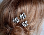 Bridal wedding hair pin, Bridal Hair pins, Wedding hair pins, Crystal Bridal Hair pins, Maria rhinestone hairpin, set of 3 #184