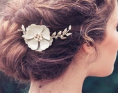 Romantic Decorative Wedding Hair Comb, Wedding Decorative Comb, Anais Ivory Bridal Hair Comb #GD1017
