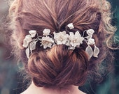 Romantic Decorative Wedding Hair vine, Wedding headpiece, Bridal headpiece, Alberta Bridal Hair comb #GD1042