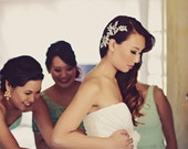 Wedding Bridal Hair Comb, Bridal Headpiece, Decorative Hair Combs, The Diana Crystal Hairvine #176