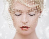 Custom Couture Veil, Gold Birdcage Veil, Christmas Veil, Christmas Wedding, Bridal Birdcage Veil, Bacall gold birdcage #300