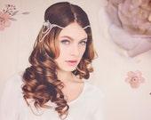 Custom Couture Gatsby Bridal Headpiece, Gatsby Crystal Bridal Headband, Crystal Bridal Hair Jewelry, The Hannah Crystal Headpiece Halo #144