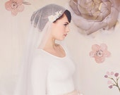 Juliet Cap Veil, Wedding Bridal Veil, Bridal Veil, Tulle Veil, English Net Veil, The Sylvia Bridal Cap Veil #153