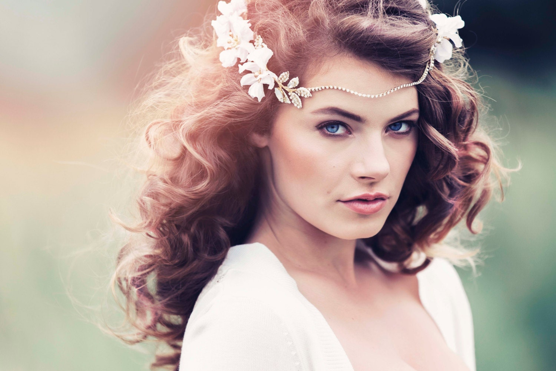 Romantic Decorative Wedding Flower Crown Wedding headpiece