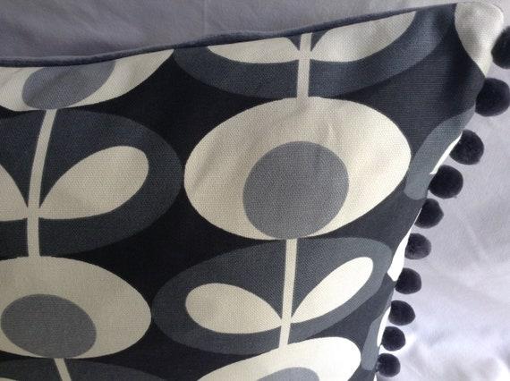 ORLA KIELY FABRIC LAUNDRY BAG TOYSBAG,BLACKGRAY FLOWER HANDMADE SEWING COTTON