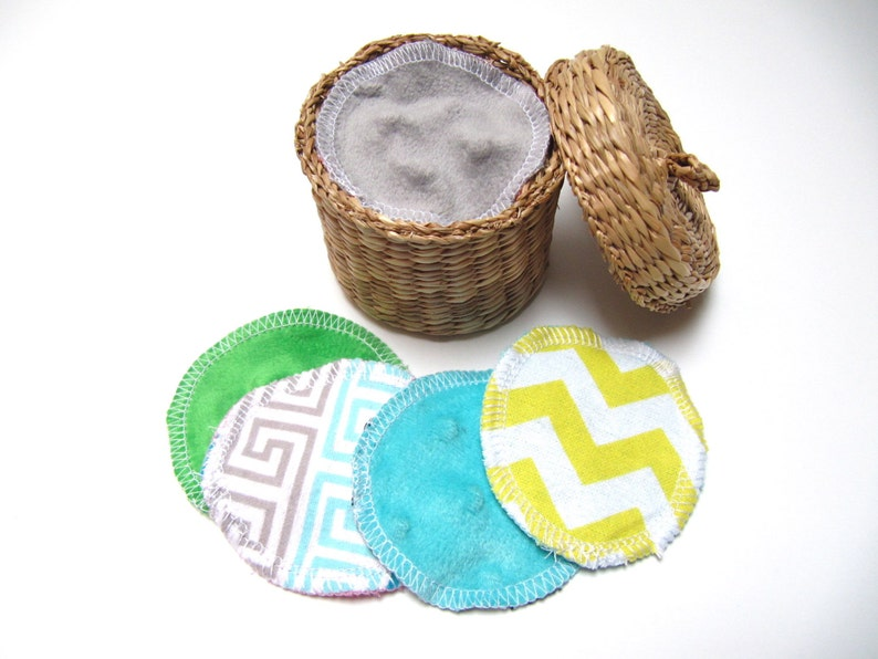 Reusable Facial Rounds Set of 10 or 20 ADULT Minky Flannel image 0