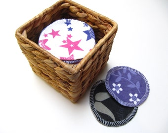 LARGE Reusable Facial Rounds, 10 or 20 Cosmetic Rounds, Makeup Remover Pads, Eco-Friendly Face Scrubbies