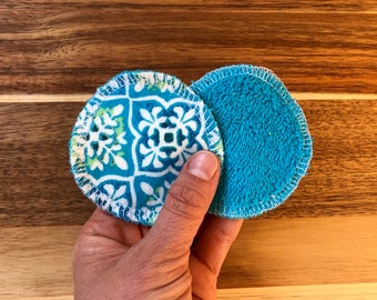 Reusable Facial Rounds, 10 or 20 Cosmetic Rounds, Makeup Remover Pads, Terry Flannel Facial Pads, Add On WASH BAG, Eco Stocking Stuffer