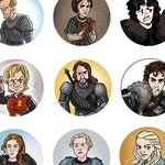 "Game of Thrones ASOIAF 1"" Character mini pinback button"