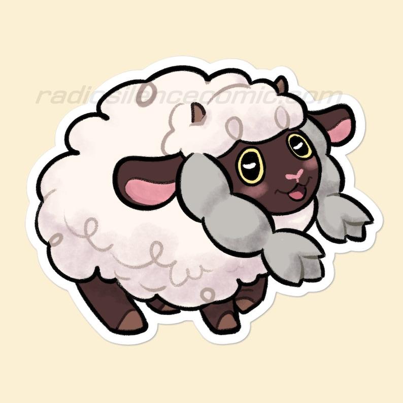 Cute sheep 3 Vinyl Sticker image 0