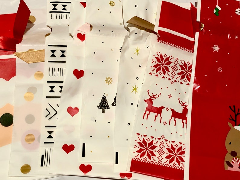 Gift Wrap Bags Upgrade  Decorative Reuseable Festive image 0