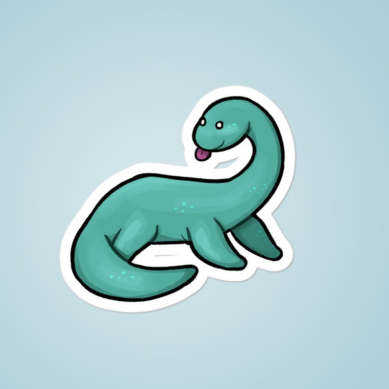 Loch Ness Monster cryptid 3 vinyl sticker image 0