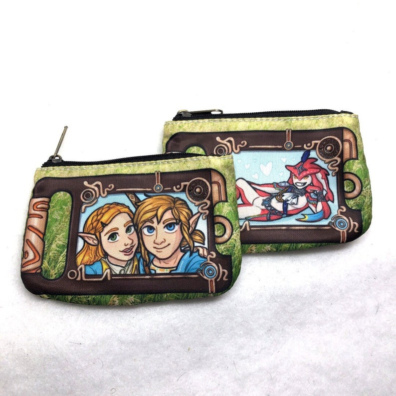 Legend of Zelda Link Sidon BOTW selfie fabric wallet coin image 0