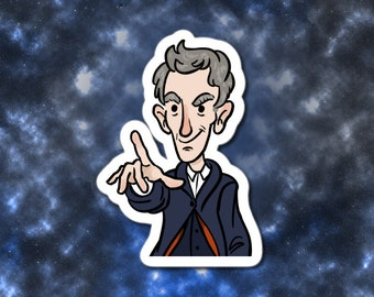 """Doctor Who 12th Doctor 3"""" vinyl sticker"""