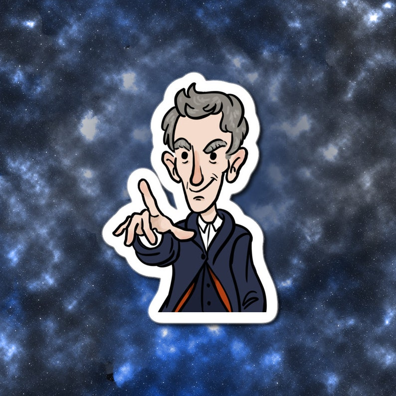 Doctor Who 12th Doctor 3 vinyl sticker image 0