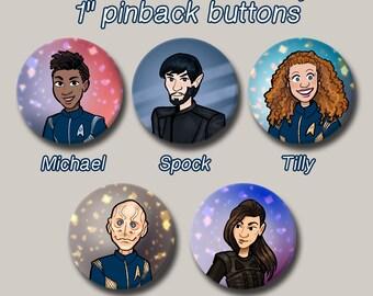 "Star Trek Discovery Series 1"" Pinback Button"