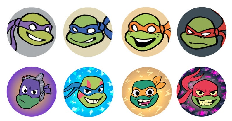 Teenage Mutant Ninja Turtles TMNT 1 Inch Button image 0