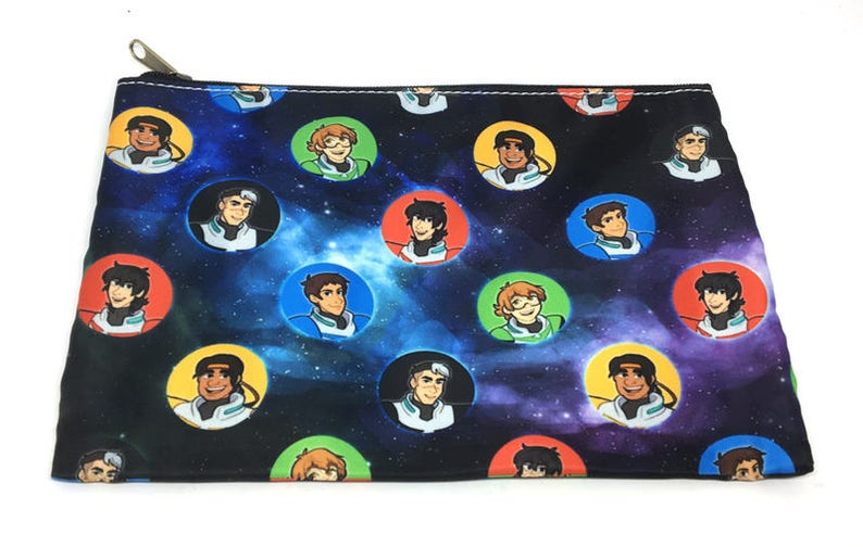 Voltron galaxy dotted pencil case pouch image 0