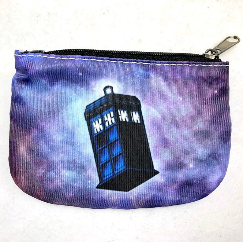 Doctor Who TARDIS 13th Doctor galaxy pouch or coin purse image 0