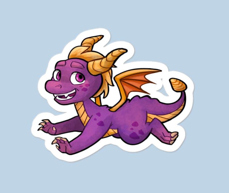Spyro dragon 3 vinyl sticker image 0