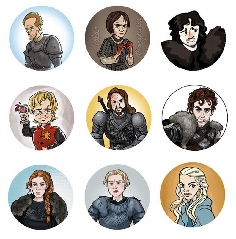 Game of Thrones ASOIAF 1 Character mini pinback button image 0