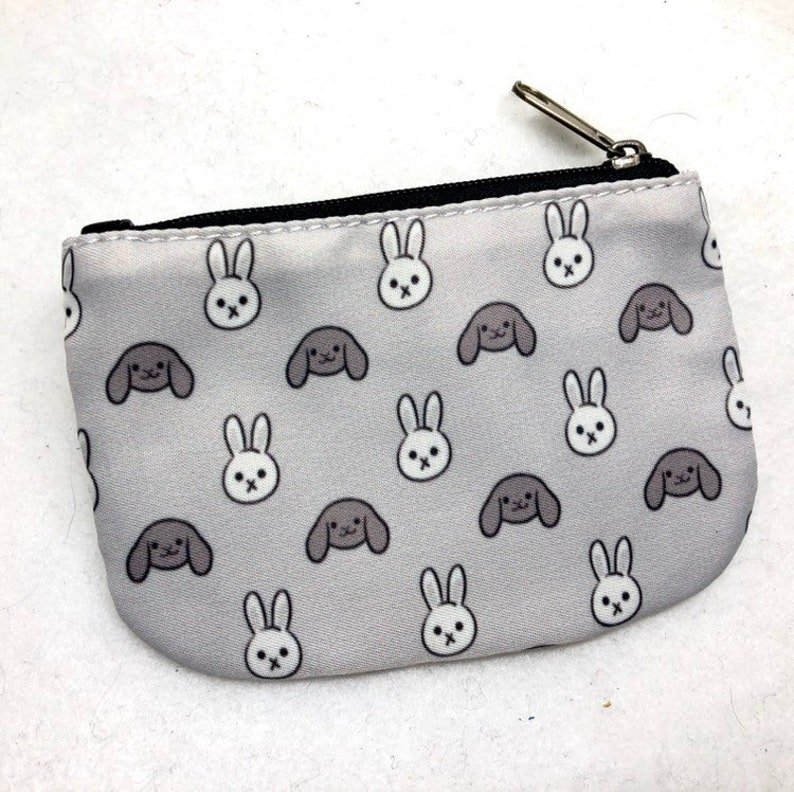 Bunny rabbit pattern coin purse wallet image 0