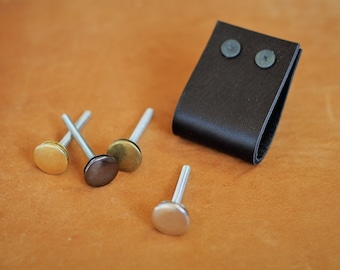Wide Leather Drawer Pulls | Rounded Leather Pulls | Finished leather front & back, Wipe away grungy build-up and germs
