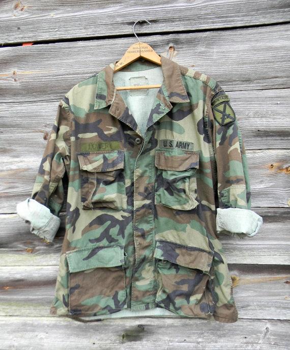 Vintage Camoflauge Jacket Army Surplus Jacket Size Medium  21c83d807a0f