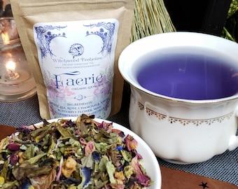 Faerie Tea Party BUNDLE, Loose-Leaf Organic Tea and Herbal Sugars