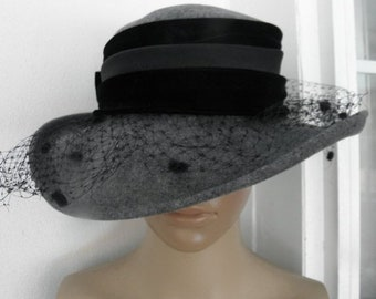 53e350224cf 10% OFF Betmar 1950s GREY 100 Percent Wool Felt Hat