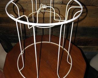 c782ada31267 White Vintage Large Lampshade Frame