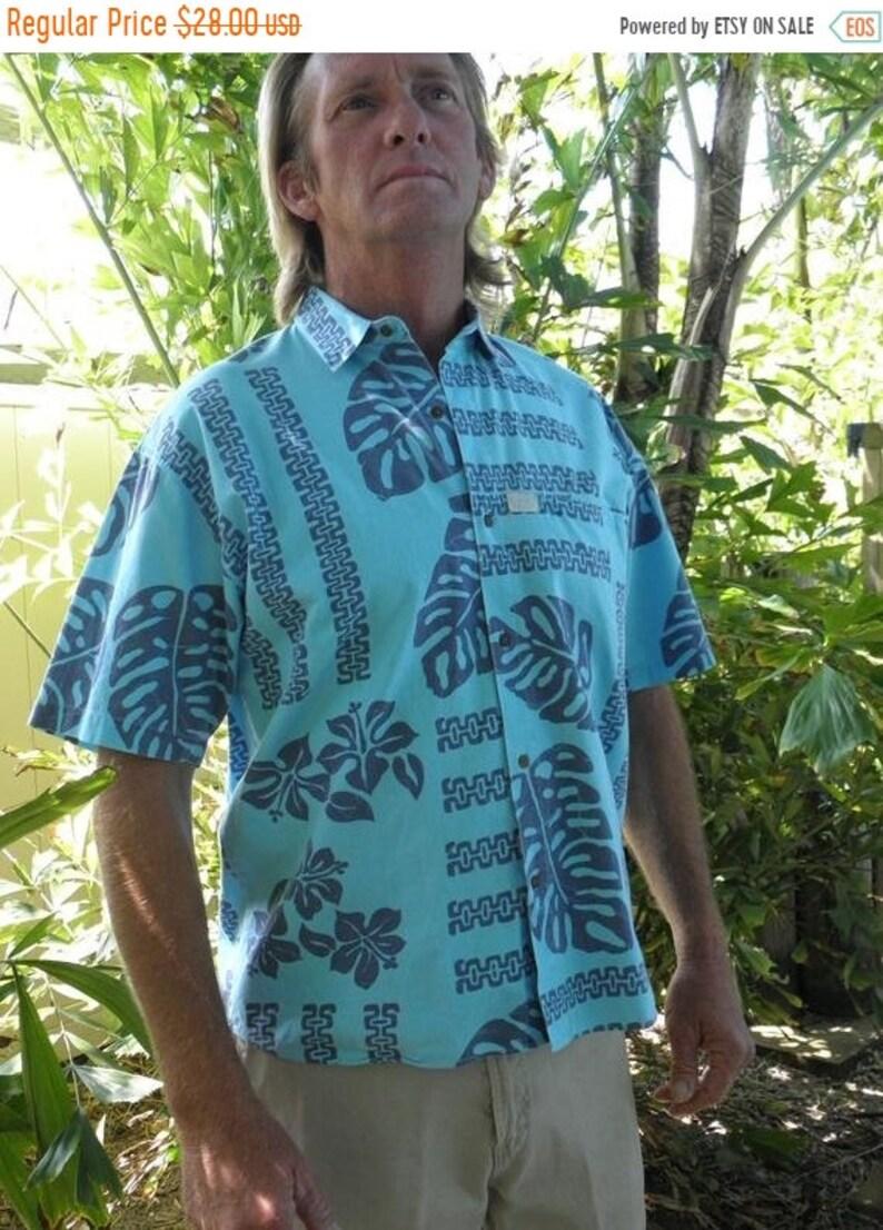 1/2 OFF Men's 2 Tone Blue Vintage Tropical PCH Pacific image 0