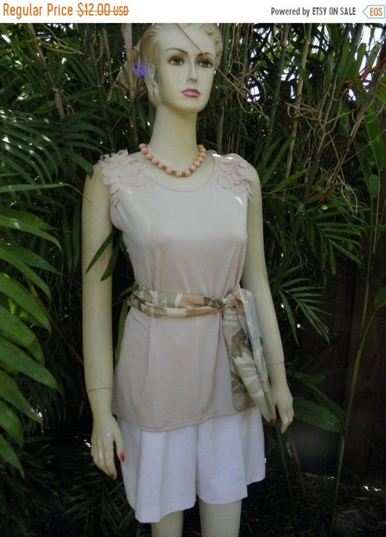 1/2 OFF Milano Peachy Petal Pink Embellished Shoulders image 0