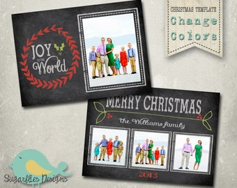 christmas card photoshop template family christmas card 87 etsy