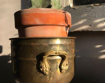 Vintage Brass Planters