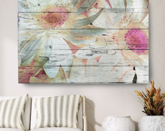 "Vibrant Summer. Floral Painting, Pink White Abstract Art, Large Abstract Colorful Contemporary Canvas Art Print up to 72"" by Irena Orlov"
