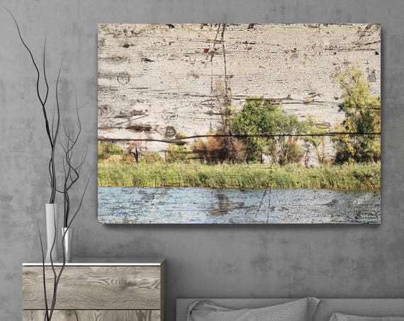 "ORL-11611 Rustic Landscape 16., Rustic Landscape Art,  Green Tree Art, Rustic Landscape, large canvas art print up to 72"" by Irena Orlov"