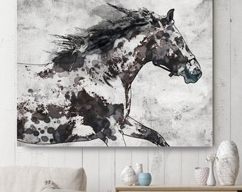 Abstract Horse Art Etsy