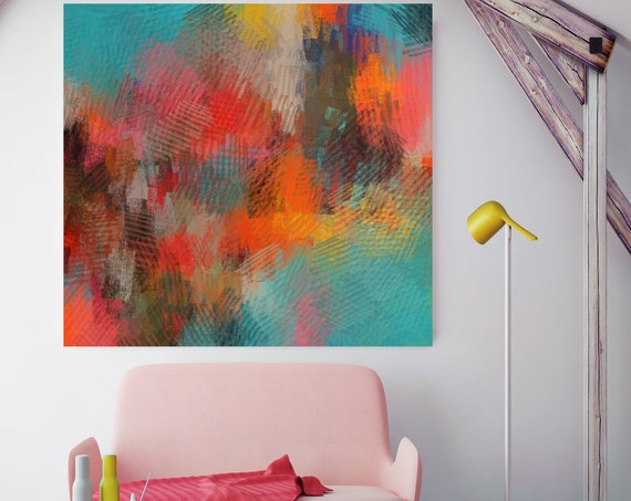 "Ultimate experience.Abstract Paintings Print Wall Decor Extra Large Abstract Colorful Contemporary Canvas Art Print up to 48"" by Irena Orlov"